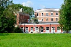 Museet av historia av flygmotor-byggnad, Gatchina royaltyfri fotografi