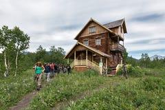 Museet av naturen parkerar Nalychevo, mitten för miljö- utbildning som namnges efter Semenov kamchatka Royaltyfri Foto