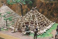 Museet f?r Hongshan kultur drar en ?versikt av den kinesiska Yuan Dynasty som baseras p? historiska rekord royaltyfri foto