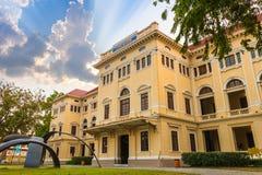 Museet Siam lokaliseras på den Sanamchai vägen i Bangkok, Thailand arkivfoton
