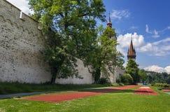 Musegg墙壁,卢赛恩 免版税库存照片