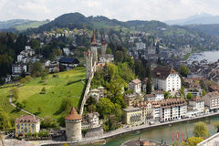 Musegg Wall in Lucerne, Switzerland Stock Photos