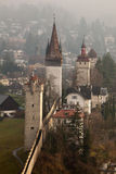 Musegg Wall and Towers in Luzern, Switzerland stock photography