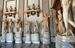 Statues in Museum Capitoline Stock Photography