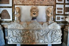 Busts in Museum Capitoline Stock Image
