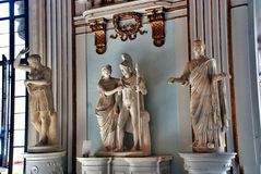 Statues in Museum Capitoline Stock Photo
