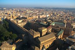 Vatican museum. Aerial view of Vatican museum in Rome, Italy Royalty Free Stock Photos