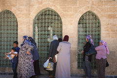 Muselmaner på moskén Arkivfoton