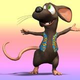 musen för 04 tecknad film tjaller Arkivfoto
