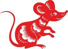 Musen tjaller, det kinesiska mån- horoskopet Royaltyfri Bild