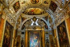 Museo小山谷歌剧在锡耶纳,意大利 免版税图库摄影