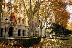 Museo военноморское, Paseo del Prado, Мадрид, Испания Стоковые Фото