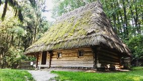 Museo al aire libre de la arquitectura y de la lucha nativas 'Shevchenkos' Haj' Fotografía de archivo libre de regalías