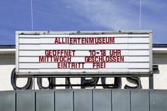 Museo aliado en Berlín fotografía de archivo libre de regalías