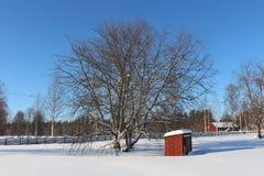 Museo all'aperto Hägnan in Gammelstad Fotografie Stock Libere da Diritti