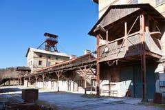 Museo all'aperto, miniera di carbone Mayrau, Vinarice, Kladno, repu ceco fotografie stock