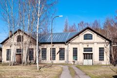 Museo all'aperto, miniera di carbone Mayrau, Vinarice, Kladno, repu ceco fotografie stock libere da diritti