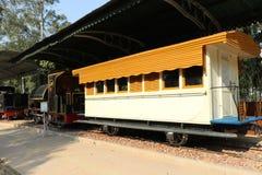 Museo antico della ferrovia del motore della ferrovia Immagine Stock