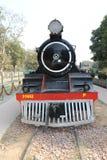 Museo antico della ferrovia del motore della ferrovia Fotografie Stock