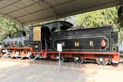 Museo antico della ferrovia del motore della ferrovia Fotografia Stock