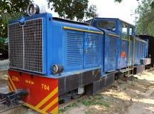 Museo antico della ferrovia del motore della ferrovia Fotografia Stock Libera da Diritti