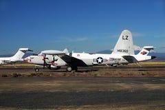 Museo antiguo de los aviones de la marina de guerra del vintage Foto de archivo libre de regalías