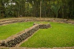 Museo archeologico del sito di Tulipe, Ecuador Fotografia Stock