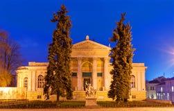 Museo arqueológico de Odessa en la noche Fotos de archivo