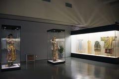 Museo asiatico di cinese, di Pechino, delle donne e dei bambini, il costume nazionale di mostra del hallï del ¼ delle donne dell' Fotografia Stock Libera da Diritti
