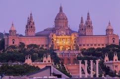 Museo Barcellona di MNAC Fotografie Stock