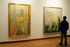 Museo Botero - Bogota royalty-vrije stock afbeelding