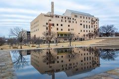 Museo commemorativo nazionale di Oklahoma City a Oklahoma City, GIUSTO fotografie stock libere da diritti