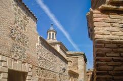 Museo convento santo domingo el antiguo toledo. View to dome of convento santo domingo el antiguo toledo with sky jet line Stock Images