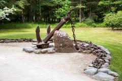 Museo de anclas en parque en Ventspils Fotografía de archivo libre de regalías