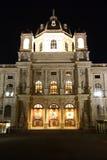 Museo de Art History de Viena en la noche Fotos de archivo