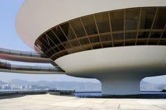 Museo de arte contemporáneo de Niterói (MAC) Foto de archivo libre de regalías