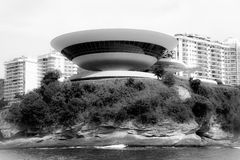 Museo de arte del contemporáneo de Niteroi Imagenes de archivo