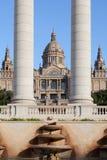 Museo de arte nacional de Cataluña en Barcelona fotos de archivo