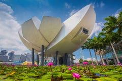 Museo de ArtScience en Marina Bay Sands Foto de archivo libre de regalías