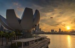 Museo de ArtScience, Singapur fotos de archivo libres de regalías