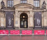 Museo de Berlín de la historia natural, exposición famosa del rex Tristan del tiranosaurio Imagenes de archivo