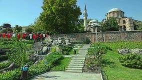 Museo de Chora - iglesia en Estambul almacen de metraje de vídeo