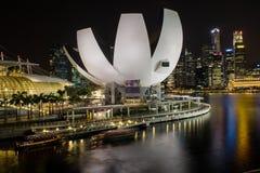 Museo de ciencia del arte Singapur Foto de archivo libre de regalías