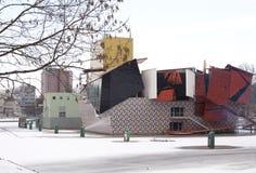 Museo de Groninger en la nieve Foto de archivo