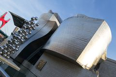 Museo de Guggenheim en Bilbao Fotos de archivo libres de regalías