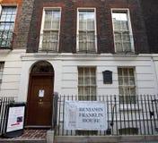 Museo de la casa de Benjamin Franklin Fotografía de archivo libre de regalías