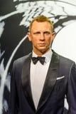 Museo de la cera de Daniel Craig Figurine At Madame Tussauds Imágenes de archivo libres de regalías