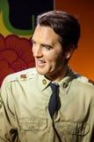 Museo de la cera de Elvis Presley Figurine At Madame Tussauds Imágenes de archivo libres de regalías