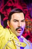 Museo de la cera de Freddie Mercury Figurine At Madame Tussauds Foto de archivo libre de regalías