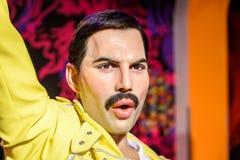 Museo de la cera de Freddie Mercury Figurine At Madame Tussauds fotografía de archivo libre de regalías